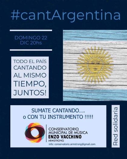 Armstrong se suma a Canta Argentina