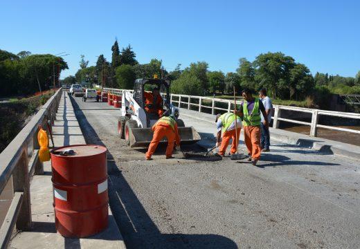Avanzan las obras en el puente de la RN 11 sobre el río Carcaraña