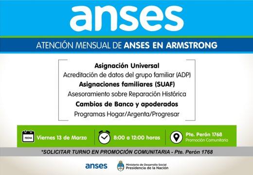 Armstrong. Comunicado consultas ANSES marzo 2020