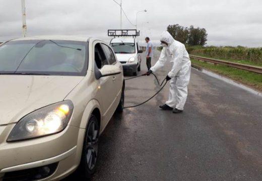 Cañada de Gomez. Intensifican controles y desinfección de vehículos.