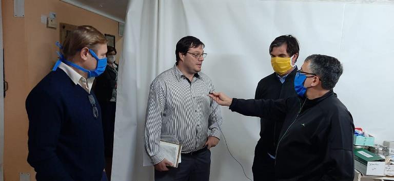 El Subsecretario de Acceso a la Salud recorrió Las Rosas, junto al Intendente y el Senador