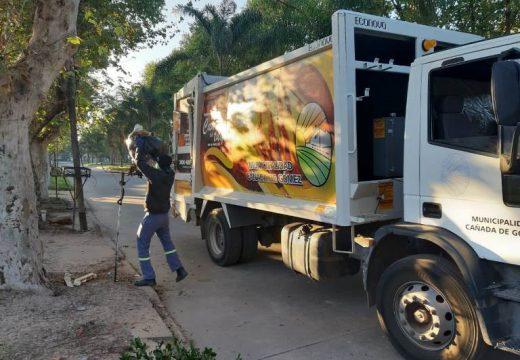 Cañada de Gómez. Municipio continua con trabajos de higiene urbana.