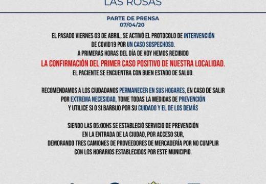 Las Rosas: dió positivo el análisis del hisopado en el caso sospechoso de Covid19