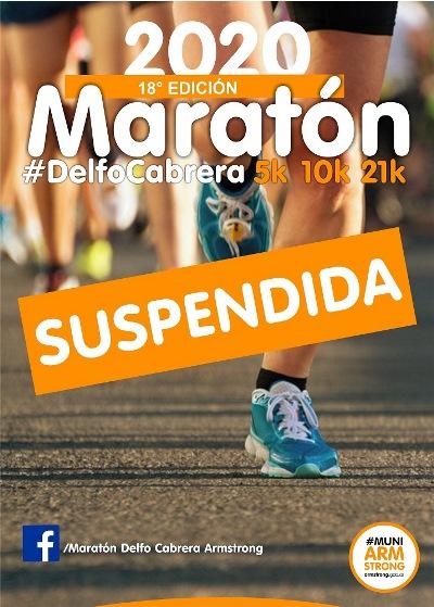 Armstrong. Queda suspendida la 18º edición de la Maratón Delfo Cabrera.