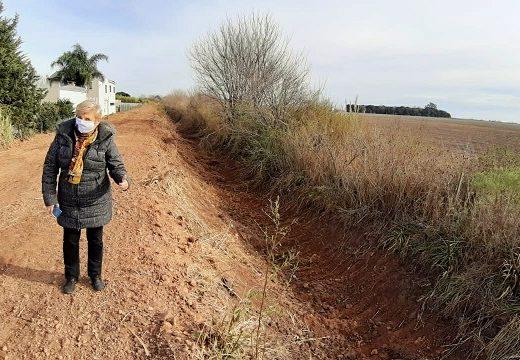 Cañada de Gómez. Clerici recorrió avances de trabajos hídricos.