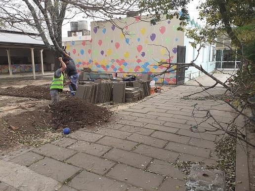 Cañada de Gomez. Municipio inicio trabajos en Escuela Alberdi