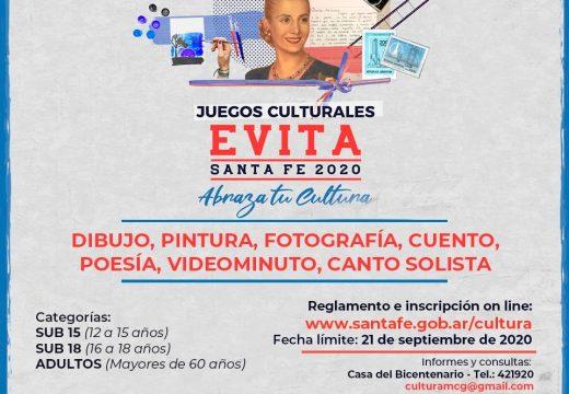 Cañada de Gómez. El municipio invita a participar de los juegos culturales Evita Santa Fe 2020.