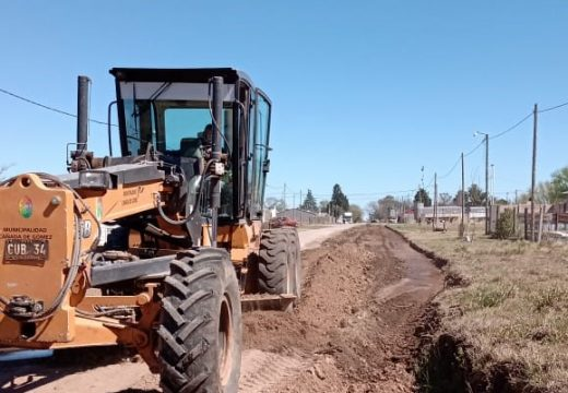 Cañada de Gómez. Municipio avanza con obras en zona norte.