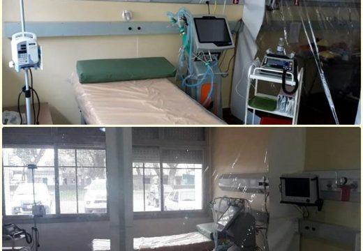 En SAMCo Las Rosas se adecuó una sala para cuidados de pacientes críticos