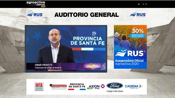 Perotti en la inauguración de AgroActiva virtual.