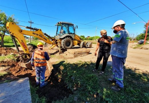 Cañada de Gómez. Municipio avanza con trabajos hídricos en frente de pavimento.