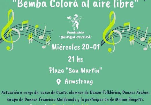 Hoy…Ciclo Cultural Bemba Colorá al aire libre.
