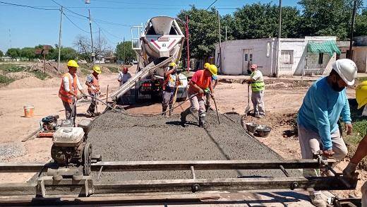 Cañada de Gómez. Municipio continúa pavimento en zona sur.