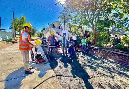 Cañada de Gómez. Municipalidad continúa trabajos de pavimento en zona sur.