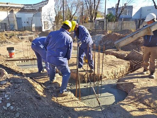 Avanzan las obras del nuevo edificio de la Escuela Técnica de Armstrong.
