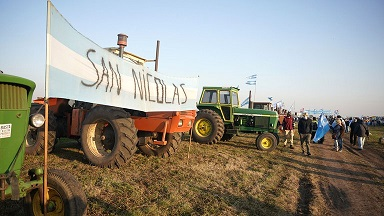 El campo protestó contra el Gobierno: productores de todo el país se concentraron en San Nicolás.