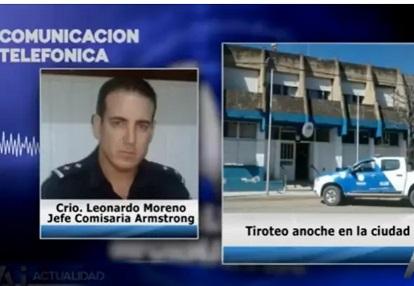 Armstrong. Una pareja denunció que recibió disparos de arma de fuego en el frente de su domicilio.
