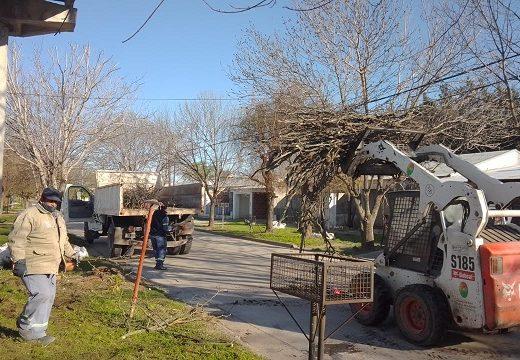 Cañada de Gómez. Continúan los trabajos de higiene urbana.