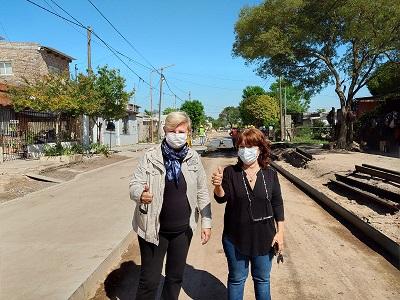 Cañada de Gómez. Municipo avanza con obras de pavimento en zona sur.